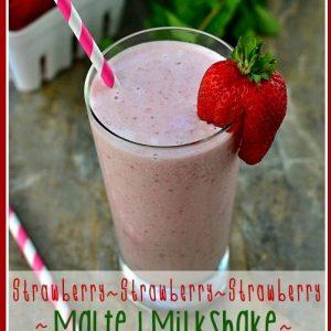 Strawberry Malted Milk